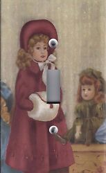 Light Switch Plate Outlet Covers Antique Porcelain Doll Girl In Red Dress