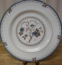 1 Royal Doulton Old Colony Dinner Plate Tc1005 England Blue Flowers Brown Leaves