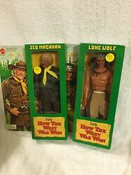 1978 Mattel How The West Was Won Zeb Macahan And Lone Wolf Action Figures