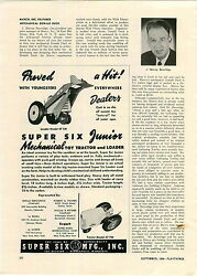 1948 Paper Ad Super Six Mechanical Toy Loader Tractor Gibbs Toy Tops