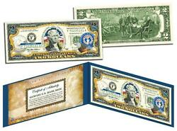 Northern Mariana Islands Statehood 2 Two-dollar Colorized Us Bill -legal Tender