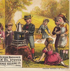 Picnic Florence Oil Stove Crown Sewing Machine Before And After With Without Card