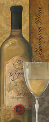 WINE ART PRINT - From the Cellar I by Lisa Audit  42x18 Bar Restaraunt Poster