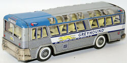 tin lithographed friction greyhound bus
