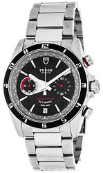 New Tudor Grantour Chronograph Flyback Menand039s Steel Watch 20550n-95730blk