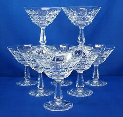 Waterford Crystal Kylemore Champagne Sherbert Glasses 4.75h Set Of Eight