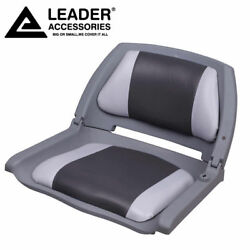 Leader Accessories New Marine Folding Boat Seat Gray/charcoal