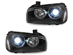 Black Projector Headlight + Xenon HID + LED Corner for 2006-2010 Dodge Charger