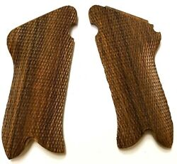 WWI WWII GERMAN P08 P 08 LUGER WOODEN PISTOL GRIPS PAIR
