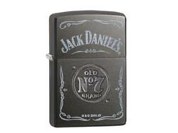 Zippo Jack Daniels Stamped Gray Dusk Color Lighter / 60002303 New In Box