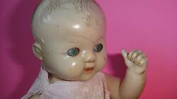 Rare Antique English 8.5 Roddy Celluloid Doll Made In England Painted Tin Eyes
