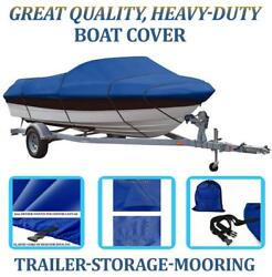 Blue Boat Cover Fits Lund Angler 1650 Ss W/o Windscreen W/o Tm 1999-2000