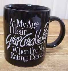 Snap Crackle Pop Coffee Mug Cup Getting Old Older Joint Pain Cereal