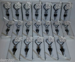 Lot Of 19 Heart Shaped Wine Bottle Stopper Wedding Favors Gifts New In Box