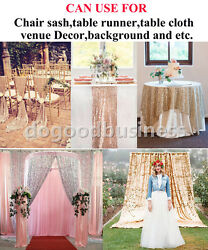 1-9.1m Sequin Fabric Photography Backdrop Curtain 1.5m Wide Wedding Table Covers