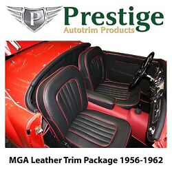Mga Roadster Carpet Set Leather- Faced Seat Covers Trim Panels 1956-1962