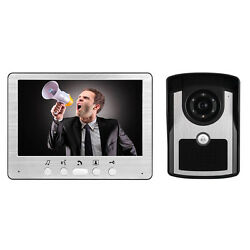 Sy815fc11 7andrdquo Night Vision Color Video Door Phone Lcd Ir Key Panel Doorbell Wired