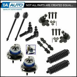 Steering And Suspension Kit Set Of 12 Hubs Sway Links Rack Boots Tie Rods For Gm