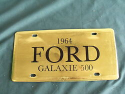 Nos 1964 Ford Galaxie Falcon License Plate Dealer Sign Showroom Fomoco 64