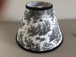 Jamestown Black And White French Country Toile Pastoral Lamp Shade Chandelier