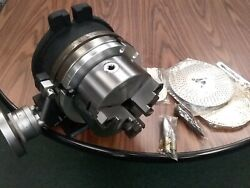 8 Precision Horizontal And Vertical Rotary Table W. 3jaw Chuck And Index Plates-new