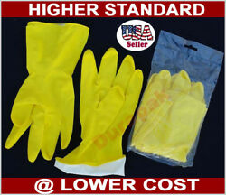 144 Pair Household Rubber Latex Clean Etc Multi Purpose Yellow Gloves S M Lxl