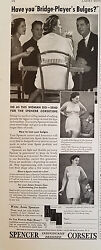 1940 Vintage Spencer Corset Corsetiere Women's Girdle Fashion Clothing Ad