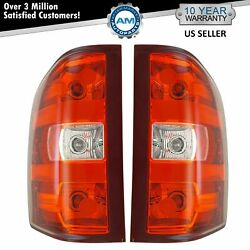 Tail Lights Taillamps Pair Set For 07-14 Chevy Silverado 1500 2500 Gmc Sierra