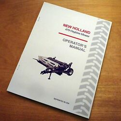 New Holland 479 Haybine Mower Conditioner Operator's Owners Book Guide Manual Nh