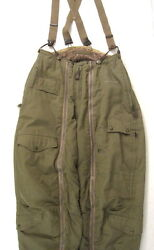 Wwii Usaaf Army Air Force Type A-11 Flying Trousers W/suspenders Size 30 - Xlnt