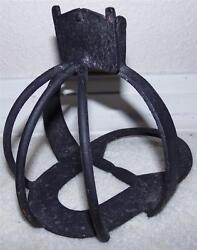 7-1/2 Long Rare Antique Hand-forged Primitive Wrought Iron Stirrup