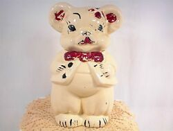 Vintage American Bisque Bear Cookie Jar Turn About Turnabout