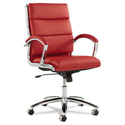 Lot of 30 Red Leather Conference Room Table Chairs with Padded Arms