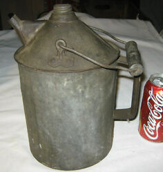 Antique New York Central Hudson River Railroad Train Oil Can N.y.c And H. R.rr Usa