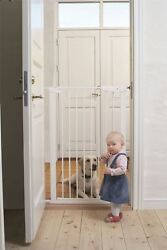 Babydan Extra Tall High Baby And Pet True Pressure Fit Stair Gate 73-120cm White