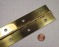 Continuous And039pianoand039 Hinge Steel Brass-plated 2 Width 90 Length With Holes
