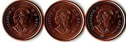 Canada 2 Varieties 2005 Penny P And No P With Bonus Coins.