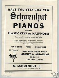 1949 Paper Ad Schoenhut Toy Piano Pianos Philadelphia Gong Bell Pull Tractor