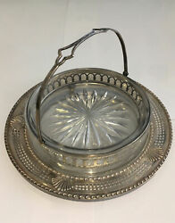Antique M Fred Hirsch Co Sterling And Glass Candy Dish