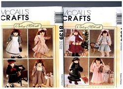 2 Betsy Mccall S Oop Patterns 7934 And 8139 Doll Clothes Fits 18 American Girl