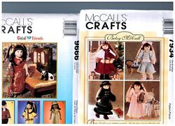 2 Mccalls Oop Patterns 7934 And 9666 Doll Clothes Dresses Fits 18 American Girl