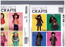 2 Mccalls Oop Patterns M5288 And 9118 Doll Clothes Dresses Fits 18 American Girl