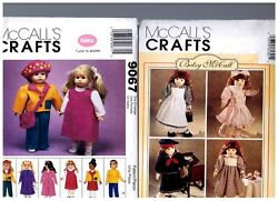 2 Mccalls Patterns 8139 And Gotz 9067 Doll Clothes Dresses Fits 18 American Girl