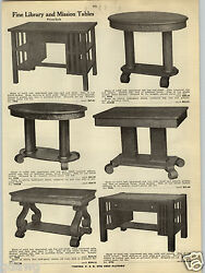1914 Paper Ad Mission Library Tables Table Oak Desk Book Library Cases Glass