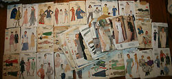 45 Vintage Sewing Patterns All Vogue, Great Styles All Sizes, Womens
