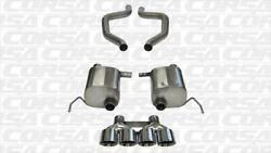 Corsa Dual Rear Axle-back Exhaust For 2015-2015 Chevy Corvette Polished 14766