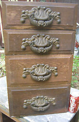 Antique Country Primitive Hardware Furniture Shelf Cabinet Cupboard Wood Draw Us