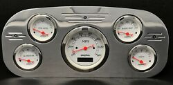 1935 1936 Ford Truck 5 Gauge Dash Panel Insert Polished Programmable White