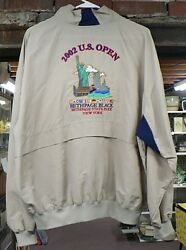 2002 U. S Open Bethpage Golf Jacket With Embroidered Twin Towers Size Xl