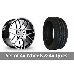 4 X 20 Bk Racing 170 Black Polished Alloy Wheel Rims And Tyres - 275/40/20